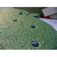 Круги зелёные на пленочной основе L312TV 15 отверстий 150 мм